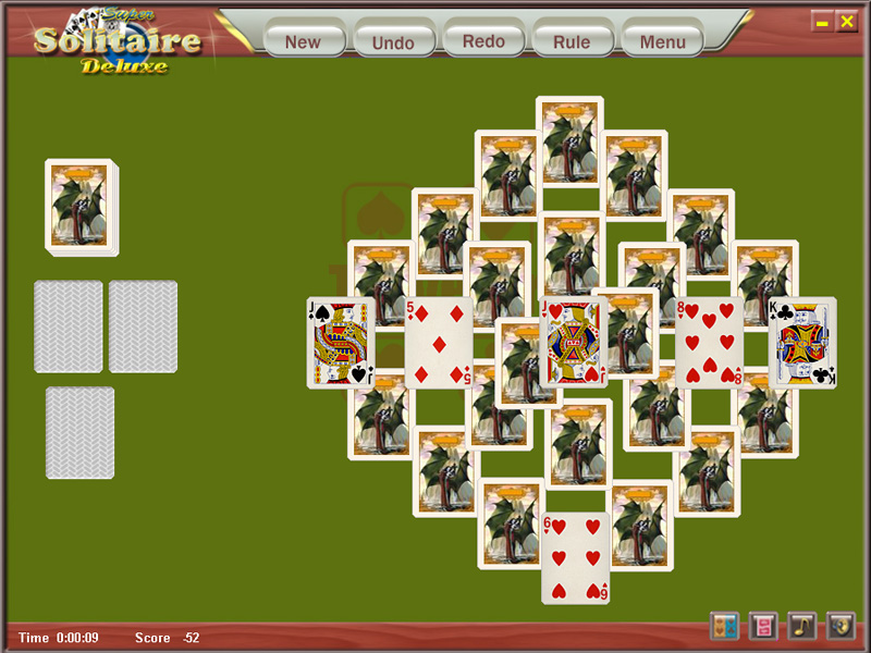 Super Solitaire Deluxe includes about 450 solitaire card games such as FreeCell, Diplomat, Eighteens, Flower Garden, Grandfather