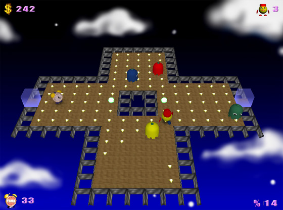 Click to view PacMan Adventures 3D 2.048 screenshot