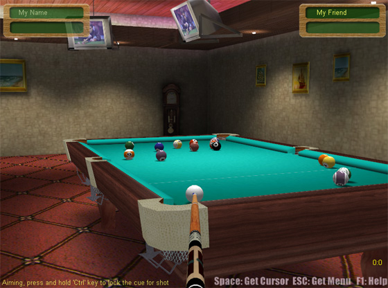 Click to view 3D Live Pool 2.72 screenshot