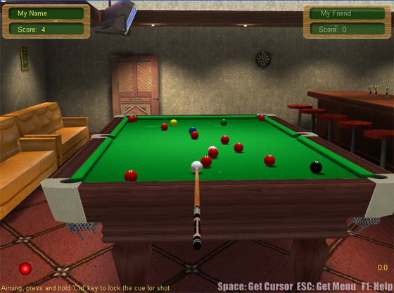 Screenshot of 3D Live Snooker