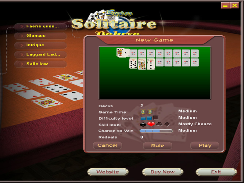 Super Solitaire screenshot